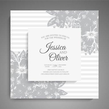 Wedding invitation. Beautiful flowers. Greeting card. Frame.