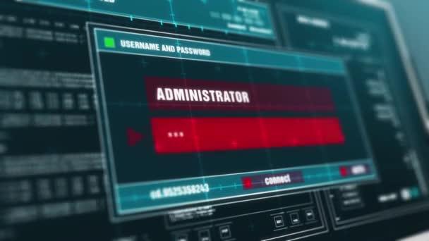 Operation Error Warning notification System Security Alert error message on Computer Screen Entering Login And Password .