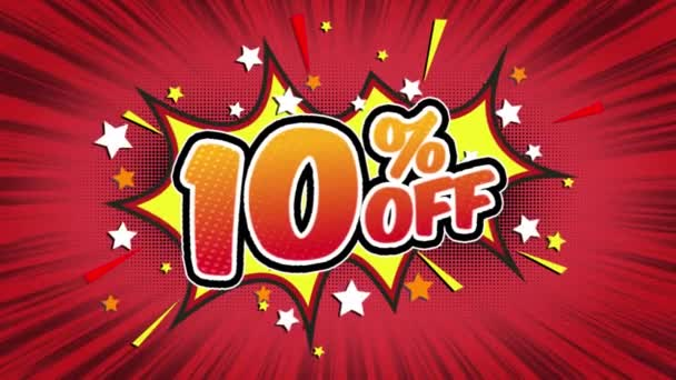 10% off  Word Retro Cartoon Comic Bubbles Popup Style Expressions Colored Bomb and Smoke Strip Dotted and red Speed Radial line Seamless loop Animation black / green screen 4k doodle background