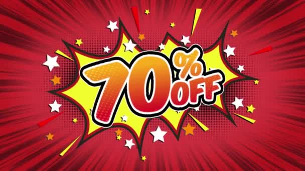 70% off Word Retro Cartoon Comic Bubbles Popup Style Expressions Colored Bomb and Smoke Strip Dotted and red Speed Radial line Seamless loop Animation black / green screen 4k doodle background