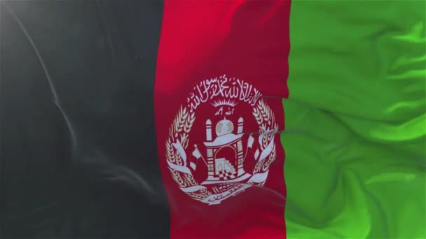 Afghanistan Flag in Slow Motion Classic Flag Smooth blowing in the wind on a windy day rising sun 4k Continuous seamless loop Background