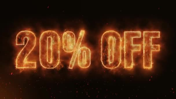 20% OFF Word Hot Burning on Realistic Fire Flames Sparks And Smoke continuous seamlessly loop Animation