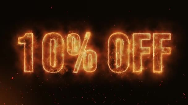 10% OFF Word Hot Burning on Realistic Fire Flames Sparks And Smoke continuous seamlessly loop Animation