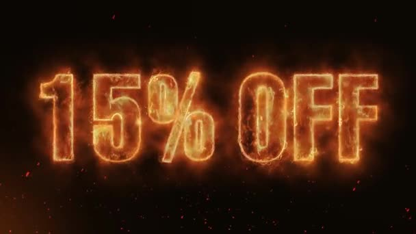15% OFF Word Hot Burning on Realistic Fire Flames Sparks And Smoke continuous seamlessly loop Animation