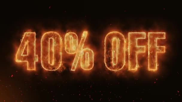 40% OFF Word Hot Burning on Realistic Fire Flames Sparks And Smoke continuous seamlessly loop Animation