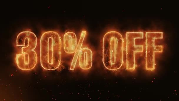 30% OFF Word Hot Burning on Realistic Fire Flames Sparks And Smoke continuous seamlessly loop Animation