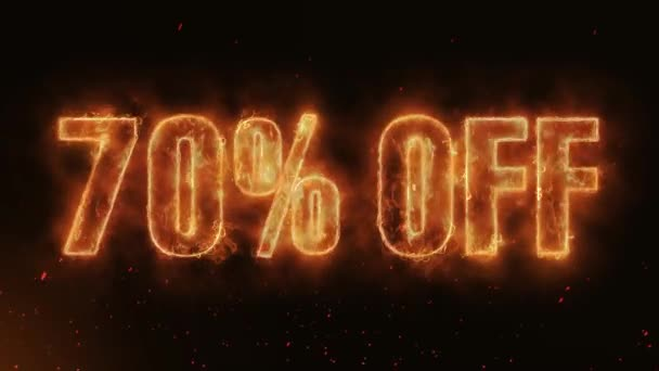 70% OFF Word Hot Burning on Realistic Fire Flames Sparks And Smoke continuous seamlessly loop Animation