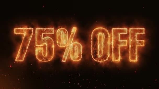 75% OFF Word Hot Burning on Realistic Fire Flames Sparks And Smoke continuous seamlessly loop Animation