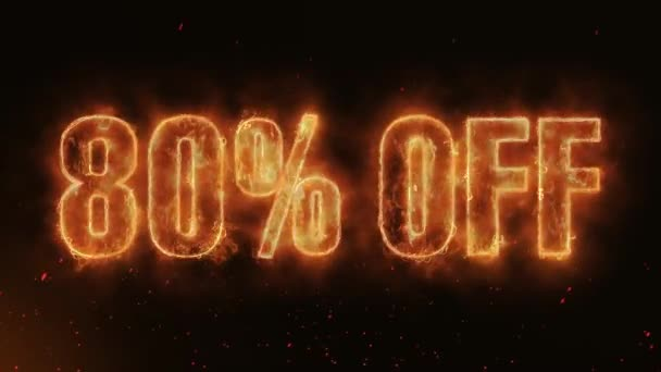 80% OFF Word Hot Burning on Realistic Fire Flames Sparks And Smoke continuous seamlessly loop Animation