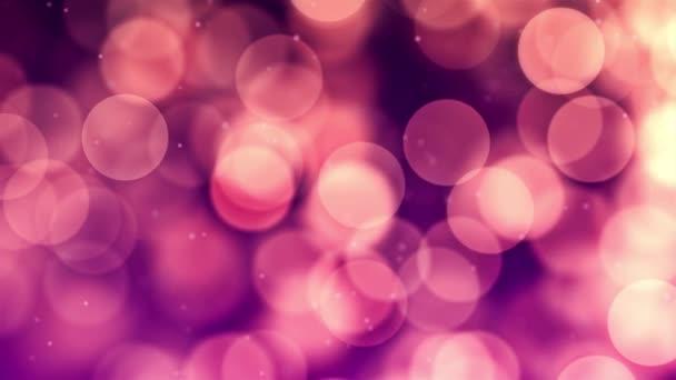 oranžová, pohybující se nahoru abstraktní blikající zářící třpytivé bokeh pozadí částice prachu s pohyblivými a blikání blikání červené Bůh částic bezešvé smyčka podklad pro ocenění, akce, svatba, oslava