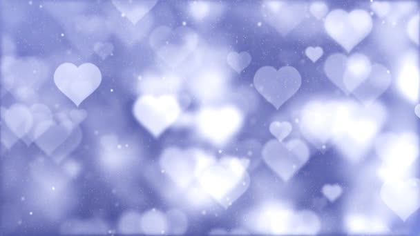 Velké stěhování romantické Spinning visící zářila láska srdce barevné částice pohybující se smyčka pozadí pro Valentýn, den matek, narozeniny, svatba, výročí, pozdrav pozvání.