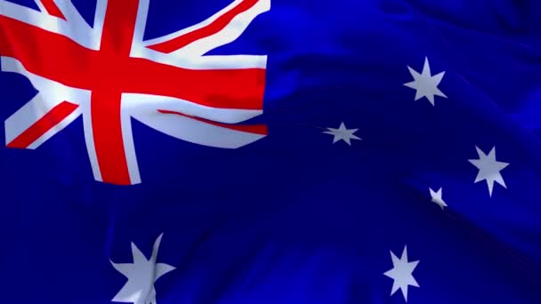 07. Australia Flag Waving in Wind Continuous Seamless Loop Background.
