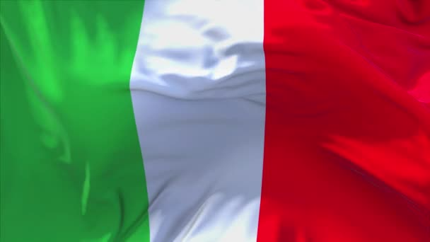 218. Italy Flag Waving in Wind Continuous Seamless Loop Background.