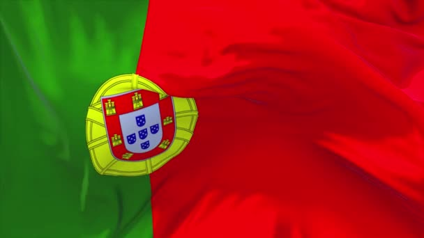 234. a Portugália lobogója alatt integetett a szél folyamatos varrat nélküli hurok háttér.