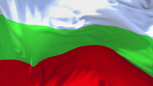 244. Bulgaria Flag Waving in Wind Continuous Seamless Loop Background.