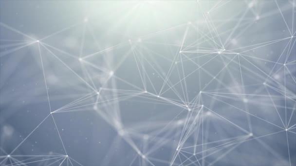 Smyčkového futuristické technologie molekulární abstraktní Plexus pozadí. Síť