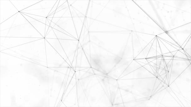 85. pulire bianco Fondo poligonale astratto digitale concetto geometrico del plesso di poligono movimento basso poli tecnologie minimalista design elemento Seamless loop presentazione aziendale business