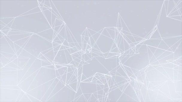 Astratto del plesso linee e punti rallentatore Loop Background