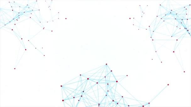 Schöner Plexus. futuristische Technologie abstrakte Zusammensetzung Schleife Hintergrund.