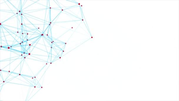 Plesso rete astratto bianco tecnologia scienza Loop movimento sfondo