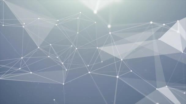 Plexus abstrakte Technologie und technischer Schleifenhintergrund