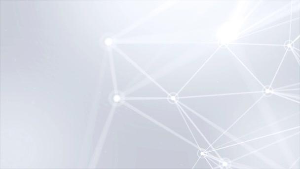 Abstraktní Plexus Fantasy technologie inženýrství organický pohyb smyčky na pozadí