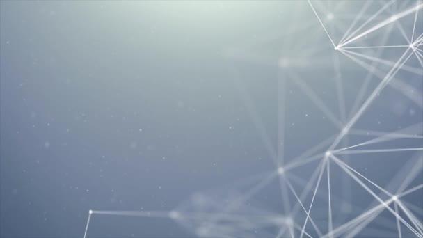 Plesso di lampeggiante in movimento triangoli puntini triangoli astratti Loop Background