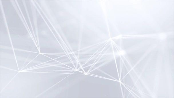 193. astratto Low poly struttura di connessione bianco brillante tecnologia molecola e comunicazione. Fondo a maglia sociale rete ciclo poligonale. pulisce morbido movimento presentazione professionale di affari
