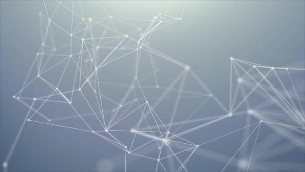 Abstraktní digitální binární Plexus datové sítě nálevky smyčky pohybu pozadí