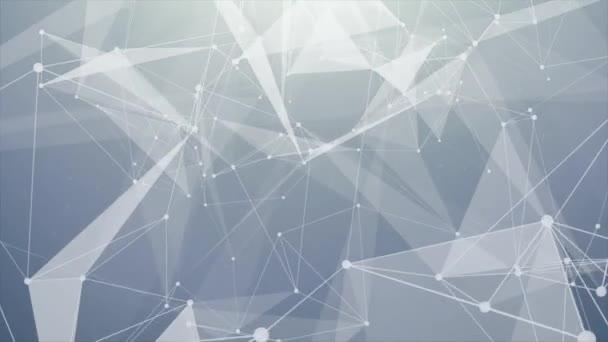 216. astratto geometrico pulito bianco futuristico basso poli forma tecnologia connessioni molecolari, ciclo di struttura del Global Business Network Design Background. scienza, tecnologia, business, presentazione