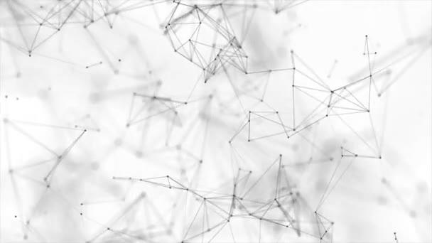 Bewegliche abstrakte geometrische Plexus Fantasy Technologie Schleife Hintergrund
