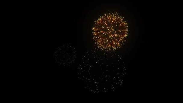 27. Letní ohňostroj proti černé obloze pozadí smyčky