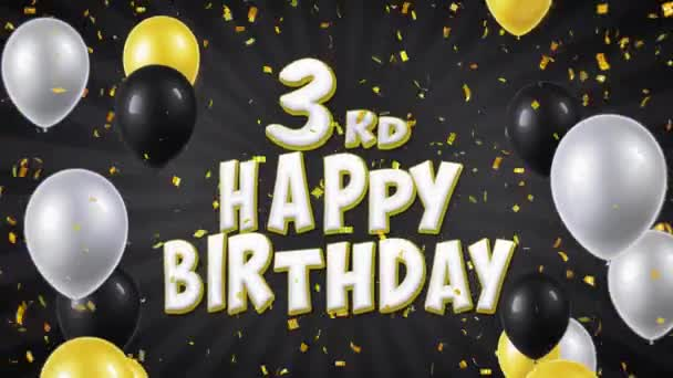 05. 3 narozeninám Text pozdrav, přání, pozvání smyčky pozadí