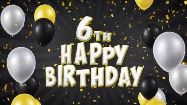 11. 6. Boldog születésnapot fekete szöveg üdvözlés, kívánság, pályázati hurok háttér