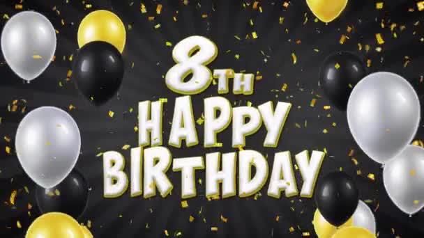 15. 8. Boldog születésnapot fekete szöveg üdvözlés, kívánság, pályázati hurok háttér