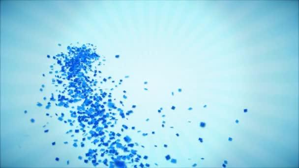 18. 9. Šťastné narozeniny pozdrav a přání s balónky, konfety tvořili pohybu