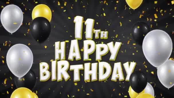 21. 11. narozeninám černého textu pozdrav, přání, pozvání smyčky pozadí