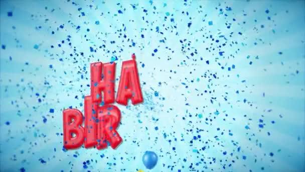 40. 20 narozeninám červená pozdrav a přání s balónky, konfety tvořili pohybu