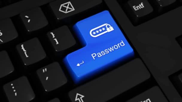 23. rotační pohyb na počítače klávesnice tlačítko heslo s textem a ikonou
