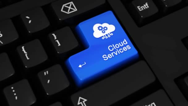 103. Cloud Services Rotation Motion On Computer Keyboard Button.