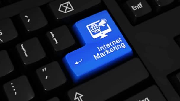 122. internetový Marketing rotační pohyb na tlačítko klávesnice počítače