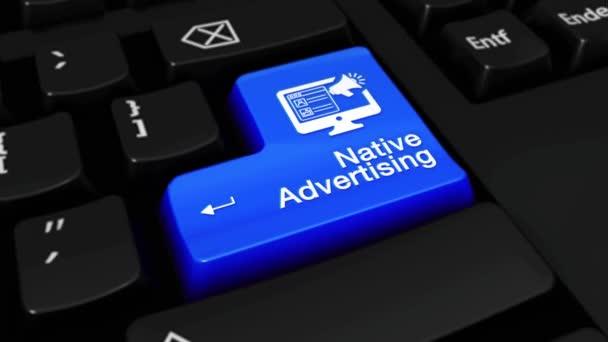 129. nativní reklamy kolo pohyb na tlačítko klávesnice počítače