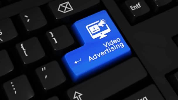 146. video reklama rotační pohyb na tlačítko klávesnice počítače