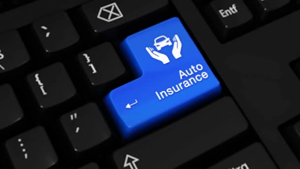 169. Auto Insurance Moving Motion On Computer Keyboard Button.