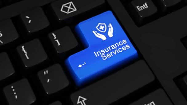 194. Insurance Services Rotation Motion On Computer Keyboard Button.