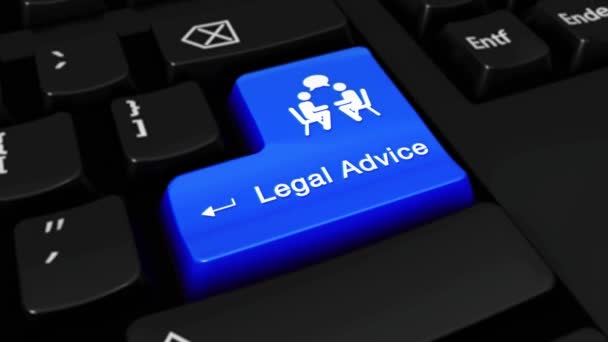 201. Legal Advice Round Motion On Computer Keyboard Button.