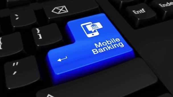213. mobilní bankovnictví kolo pohyb na tlačítko klávesnice počítače.