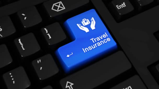 251. Travel Insurance Rotation Motion On Computer Keyboard Button.