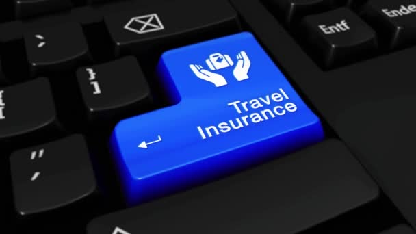 252. Travel Insurance Round Motion On Computer Keyboard Button.