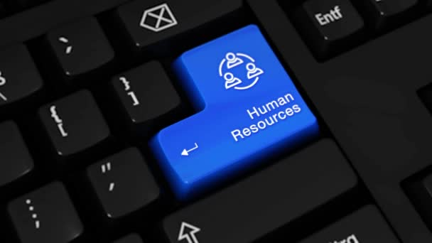 327. Human Resources Rotation Motion On Computer Keyboard Button.